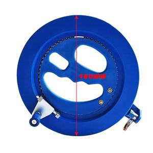 Alta calidad 16 cm Carrete de la cometa de plástico ABS azul 200 m Carrete de la cometa empuñadura Winder Flying Tool Máquina de bobina Cometas Accesorios
