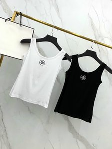 2020 American women tops fashion luxury designer sleeveless womens tops Tanks comfortable short chest logo embroidery slim underwear vests