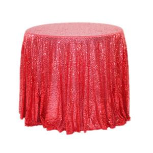 Nuovo tovaglie tovaglia rotonda paillettes Tovaglie per la festa nuziale di banchetto Casa Evento Table Cover copertura decorazione da tavola