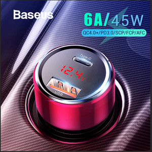 Baseus и 45W быстрая зарядка 4.0 3.0 USB автомобильное зарядное устройство для Xiaomi Ми смартфон Huawei перегружать УПП QC4.0 QC3 у.0 быстрый ПД USB-устройство с автомобильный телефон зарядное устройство