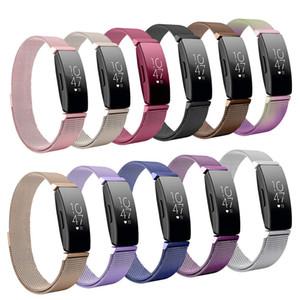 Pour Fitbit Inspire HR bande de remplacement milanaise boucle magnétique Bracelet Bracelet en acier inoxydable pour Betl Fitbit Inspire Accessoires