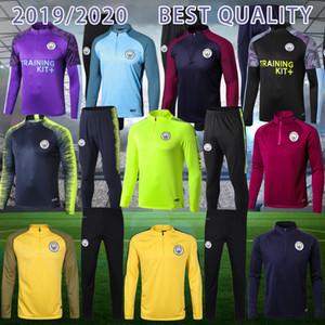 2019 Mahrez JESUS De Bruyne KUN AGUERO Manchester Giacca di tuta città SANE tute 19 20 Palloni Kit Top camicia adulto