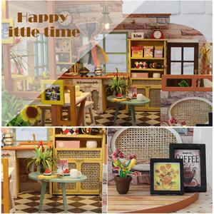 Cutebee Doll Furniture DIY Miniature House Room Box Theatre Toys for Children Casa Dollhouse S02A MX200414