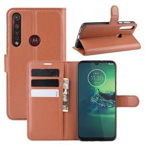 Litchi Flip Wallet Funda de cuero para Motorola Moto G8 Plus G8 Play Xiaomi Poco M3 CC9 Pro Redmi Note 8T STAND STAND CUADRO DE LA TARJETA DE LA TARJETA DE LUJO