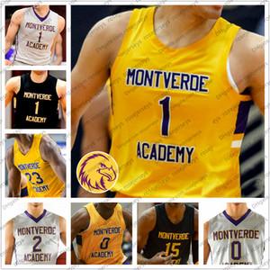 Personalizado Montverde Academ Basketball 1 Cade Cunningham 0 Dariq Whitehea 11 Scott Barnes 23 Day'ron Sharpe Homens Juventude Kid High School de Jersey 4XL