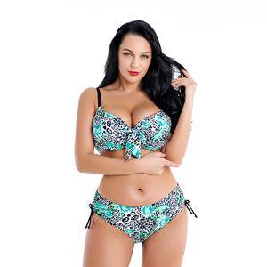 2020 Yeni Seksi Düşük Bel Halter Bikini Kadınlar Kadınlar Plus Size Mayolu Kadın Beachwear Yüzme Mayo 4XL ~ 8XL Takımları