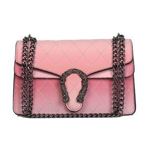 Designer-Handtaschen für Frauen Designer-Taschen mit Verlaufsart Damen Hochwertiger Umhängetasche mit 4 Farben mit Metallkette