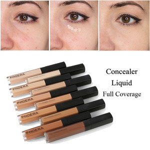 PHOERA 10 цветов жидкий корректор Stick макияж крем для лица полное покрытие шелковистая гладкая макияж лица глаза косметические 60 шт.