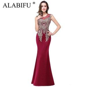 Alabifu Robe D'été Femmes 2019 Sexy Sans Manches Longue Robe De Soirée De Mariage Élégant Demoiselle D'honneur Maxi Dress Rouge Vestidos Ukraine Y190426