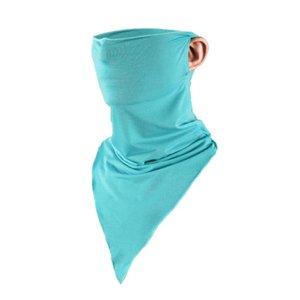 Оптово горячее лето льда шелк треугольник солнцезащитный крем маска мужчины и женщины спорта на открытом воздухе верхом волшебный шарф анти-УФ-воротник