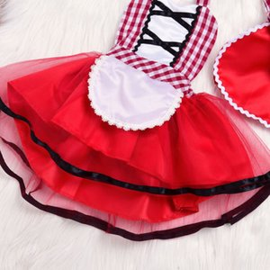 Cute Newborn Toddler Baby Girl Red Riding Hood with Wolf Costume Tutu Skirt Photo Prop Costume+Cape Cloak Outfit