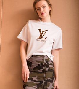 Baume Designer Hommes T Shirt Femmes 2018 d'été à manches courtes Nouveau mode Lettre Casual Sexy Lady Tops imprimés Hip Hop T-shirts