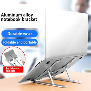 Notebook Stand Aluminum Alloy Computer Stand For MacBook Computer Lifting And Storage Triangular Bracket Antiskid Silica Gel