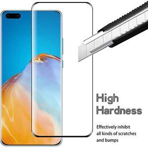 Écran courbe 3D protecteur pour Huawei P40 Pro Honor30 Nova7 Pro Cover verre trempé Huawei Maté 30 20 Pro Film de protection