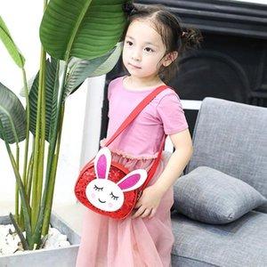 Coin PU cuir Enfants Sacs Purse mignon Sequin Mini enfants Messenger sac à main d'épaule de lapin fille pour sac à bandoulière Gbnfh