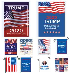 Trump 2020 Flag Make America Great Again États-Unis Drapeaux de jardin Drapeaux de bannière en plein air Patio Lawn HH9-2221