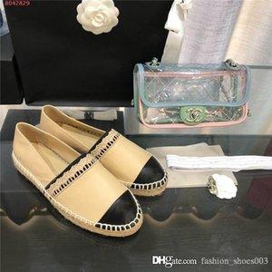 Classique Ladies Mocassins en cuir, Espadrille Flats avec de la paille de tissage Soles Casual chaussures Fisher femme Slip-on pour une utilisation quotidienne
