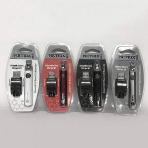 2019 NUEVO METRIX 650mAh Batería de precalentamiento 650VV METRIX Voltaje variable 3.4V ~ 4V CE3 Batería de vape 510 Batería de hilo para cartuchos Vape