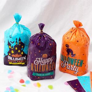 Suministros 50PCS fiesta de Halloween dulce cartón Candy Bag Bolsa de cookies bolsa de plástico Party regalo de la decoración al horno Alimentos bolsillo cumpleaños