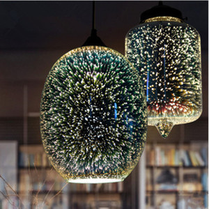 Подвеска Свет Ресторан Столовая Гостиная Арт декор 3D Fireworks стекла Подвеска Свет для нас ЕС