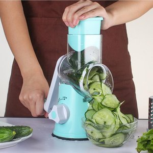 1 Pcs Manuel Coupe-Légumes Trancheur Cuisine Accessoires Multifonctionnel Rond Mandoline Trancheur Fromage De Pommes De Terre Cuisine Gadgets 3-en-1 Cutter