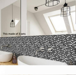 Tile Sticker Waterproof Bathroom Kitchen Wall Stickers Self Adhesive Mosaic Marble Morroco Backsplash Tiles Brick Decor