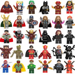 Nuovo super eroe mini figure Marvel Avengers DC Justice League Wonder Woman Deadpool Batman Groot Building Blocks bambini regali