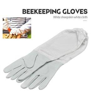 Marque blanche peau de mouton et polyester coton abeille Gant Ventilé Professional Anti Bee pour Apiculture Ruche Apiculteur Apiculteur