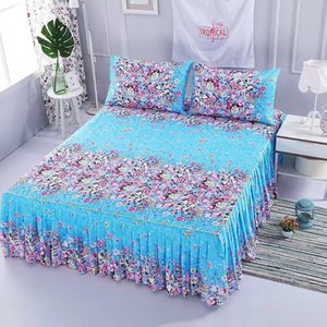 2019 romantic lace bed skirt elegant chiffon bed cover satin cotton sheets home decoration bed cover elastic band