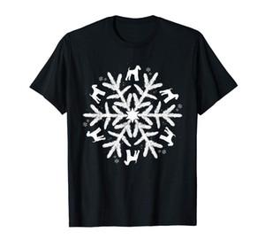 Airedale Terrier T-shirt de Noël de flocon de neige Motif T-shirt noir T-shirt-Men
