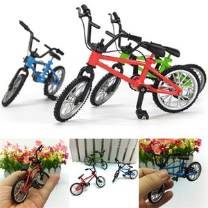 Mini Lega Finger Bike Micro Mountain Bicicletta Kids Desktop Toys Ciclismo Modello Collezione Bicyclist Regalo Figurine Miniature Green Blue