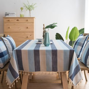 Şerit Su Geçirmez Mutfak Masa Örtüsü Masa Örtüsü Dikdörtgen Masa Örtüleri Yemek Masa Örtüsü Obrus Tafelkleed Mantel Mesa Nappe