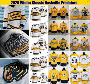 2020 Winter Classic Nashville Predators 64 Mikael Granlund 9 Filip Forsberg Ryan Johansen Matt Duchene romana Josi Pekka Rinne Hockey Jersey