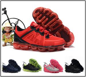 nike air max airmax vapormax Novo bebê criança Tricô Portátil Crianças Sapatos de Corrida Crianças 2019 almofada KPU Calçados Esportivos Meninos Meninas Treinamento Sneakers
