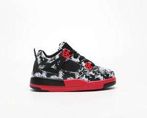 2019 nouveau IV retrd Cool gris J4 4 air en plein air enfants chaussures de basket garçon fille jeune enfant sport Running chaussures de basket Sneaker taille 28-35