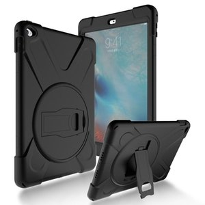 For iPad 2   3   4 Shockproof Kids Protector Case For iPad2 3 4 Heavy Duty Silicone Hard Cover kickstand design Hand brace