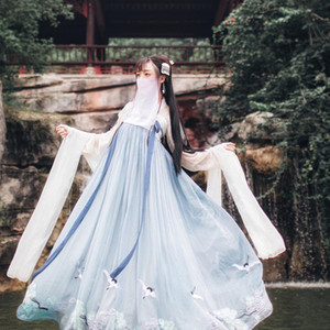 Chinese Traditional Fairy Costume National Hanfu-Ausstattungs-Kleid Alte Han-Dynastie Prinzessin Kleidung Volkstanz CostumeDQS1641