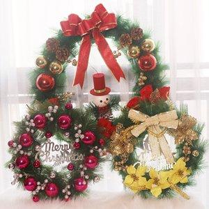 Christmas Wreath Decoration 40 50 60CM Hanging Garland Wedding Party Christmas Home Decorative Flowers Wreaths Wholesale