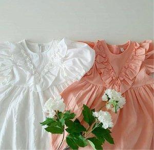 ZMHYAOKE 2020 Çocuk Giyim Kız Elbise Yaz Moda Şık Mizaç Prenses Giydirme Bebek Kız Elbise