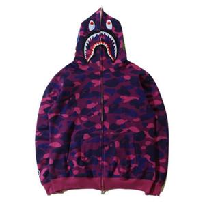 Mens giacche balneari AAPE squalo camo scimmia giacche Full Zip felpe con cappuccio cappotti invernali per chi fa jogging uomo vetements