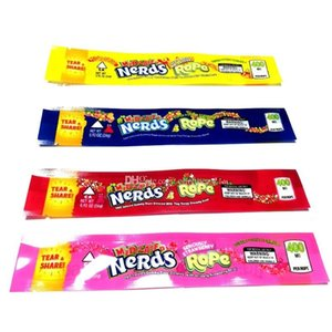 NeRds ROPE Empty Gummy Candy Bag Plastic Edibles retail packaging 4 styles Smell Proof Bags DHL Free