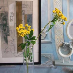 Düğün Ev Partisi Dekorasyon Aksesuar Dekoratif Çiçekler için Yapay 2 Başkanları Bağcıklar Çiçekler İpek Çiçekler Yapay Bitkiler