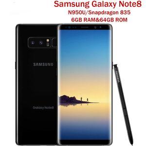 Original Samsung Galaxy Note 8 6.3 inch N950U Octa Core 6GB RAM 64GB ROM Dual Back Camera 12MP 3300mAh Unlocked Smart refurbished Phone