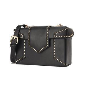 mini bag donne del cuoio genuino 2019 Nuovo marchio di lusso di alta qualità sopra la spalla femminile signore borse a mano piccola borsa Rivet
