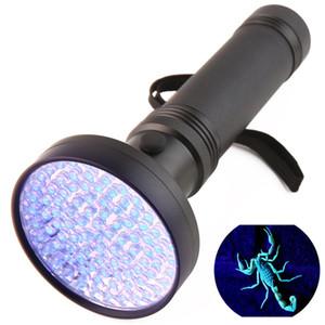 السوبر مشرق 100LED ضوء الأشعة فوق البنفسجية UV 395-400nm بقيادة مصباح يدوي الشعلة الأرجواني ضوء LED مصباح يدوي محمول البنفسج ضوء ZZA515