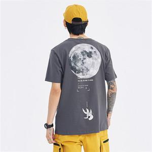 Frauen der neuen Männer Designer-T-Shirts der Frauen Mode Männer Sommer-T-Shirts Marke mit kurzen Ärmeln Mond Astronaut Drucken M-2XL Frühlings-T-Shirts 2051301V