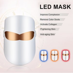 Beauty Photon LED Facial Mask Therapy 3 colors Light Skin Care Rejuvenation Wrinkle Acne Removal Face Beauty Spa Instrument