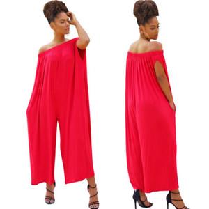 Femmes Jumpsuit Plus Size Wide Leg Pant en vrac Party Casual club Off Combishort Jumpsuit Romper Pantalons pantalons Vêtements femme
