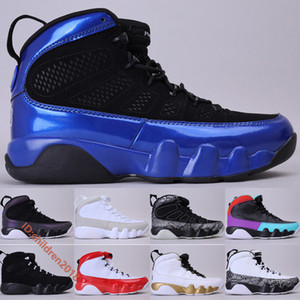 9 9s Jumpman Mens Basketball Shoes High Cut Leather Black Royal Blue Bred Anthracite Dream It White Gym Red Outdoor Sneakers Size 7-13