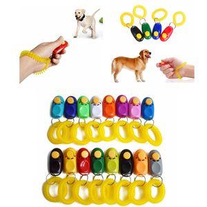 16styles Dog Whistle Clicker plástico Treinamento Pet Clique Clicker instrutor da agilidade de pulso colhedor portáteis Supplies Dog Obedience FFA4157